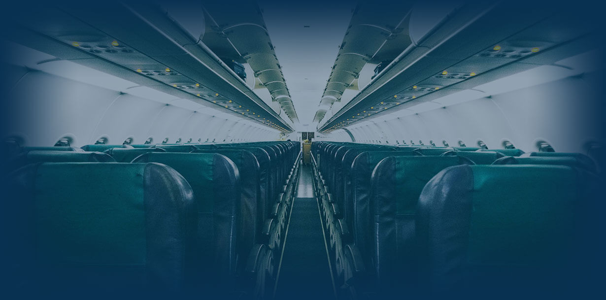 inside of an aeroplane